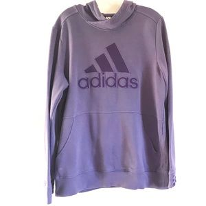 Adidas Purple Hoodie Sweatshirt sz XL